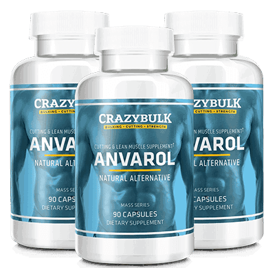 Anvarol Bottles by Crazy Bulk